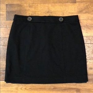 Black Loft Skirt with Buttons